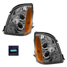04-09 Cadillac SRX Halogen Headlight PAIR