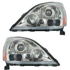 03-09 Lexus GX470 (w/Sport Package) Headlight PAIR