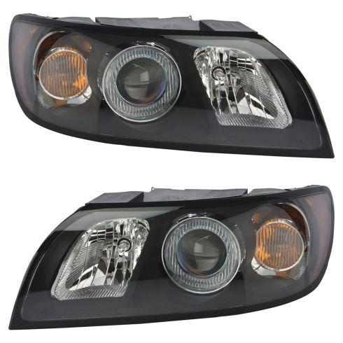 1alhp01122 Volvo S40 V50 Halogen Headlight Pair
