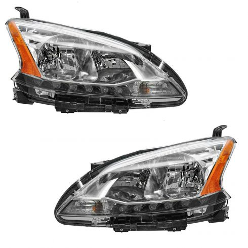 13 Nissan Sentra Headlight PAIR