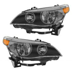 04-07 BMW 525i, 530i; 04-05 545i; 06-07 550i Halogen Headlight PAIR
