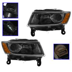 2014 Jeep Grand Cherokee Halogen Headlight Pair