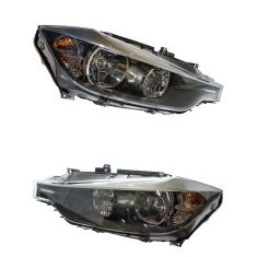 12-15 BMW 320i, 328i; 13-15 335i, ACTIVEHYBRID Halogen Headlight Pair