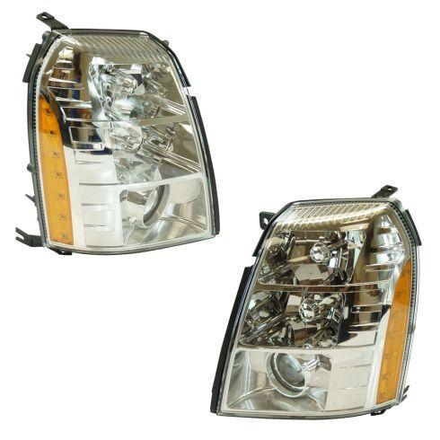 07-14 Cad Escalade, ESV; 09-13 EXT (w/Chrme Retaining Bezel) Xenon HID w/Ballast (w/o LED) Headlt PR