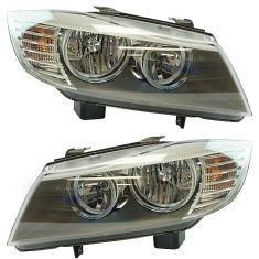 09-11 BMW 323i, 328i, 335i Sedan; 09-12 328i Wagon Halogen Headlight Pair