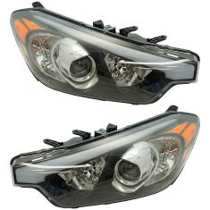 14-16 Kia Forte (w/o LED Accents) Halogen Headlight PAIR