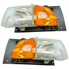 97-98 Ford A, AT HD Truck; 99-09 Sterling A, AT HD Truck Series Headlight w/Parking Light Pair
