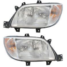 02-06 Mercedes Sprinter; 03-06 Dodge Sprinter 2500, 3500 Van (w/o Fog Lights) Headlight Assy PAIR