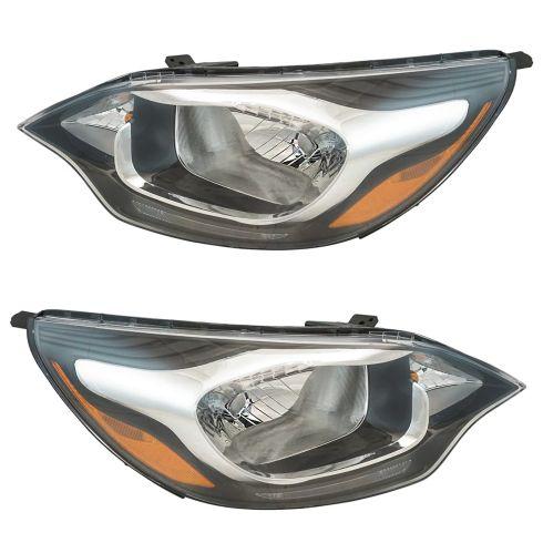 12-17 Kia Rio Sedan (w/o LED Accent) Headlight Assembly Pair