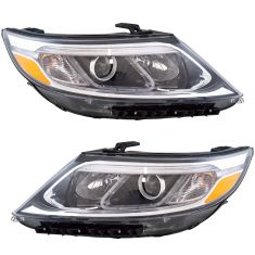 14-15 Kia Sorento Headlight Pair (w/o LED Accents)