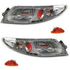 02-11 International 4000, 7000, 8500, RXT Headlight w/Parking Lamp Assy PAIR