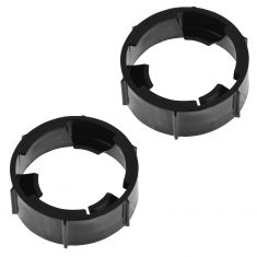 94-11 Ford, Mercury; 98-02 Lincoln Multifit Halogen Headlight Bulb Retainer Ring PAIR (Ford)