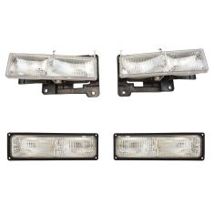 94-01 Chevy and GM Pickup Suburban Tahoe Yukon Headlight and Park Light Set