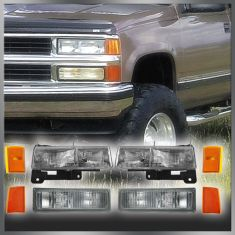 94-02 Chevy C/K Truck SUV Multifit Front Headlight Parking Turn Signal Marker SET