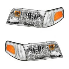 98 08 Crown Vic Headlight Side Marker Light Kit