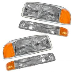 99-05 GMC Sierra Headlight & Marker Light Kit