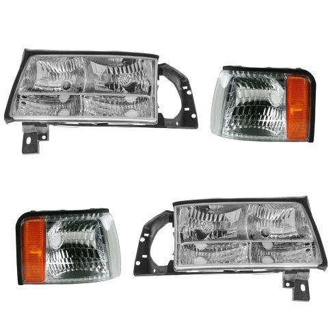 97 99 Cadillac Deville Headlight Marker Light Kit