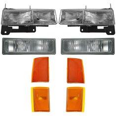 90-93 Chevy Truck and SUV Headlight, Turn Signal & Parking Light Kit