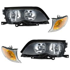 2002-05 BMW 3 Series Sedan & SW Headlight & Corner Light PAIR