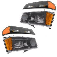2004-12 Colorado Canyon Black Bezel Headlight/Parking Light Kit