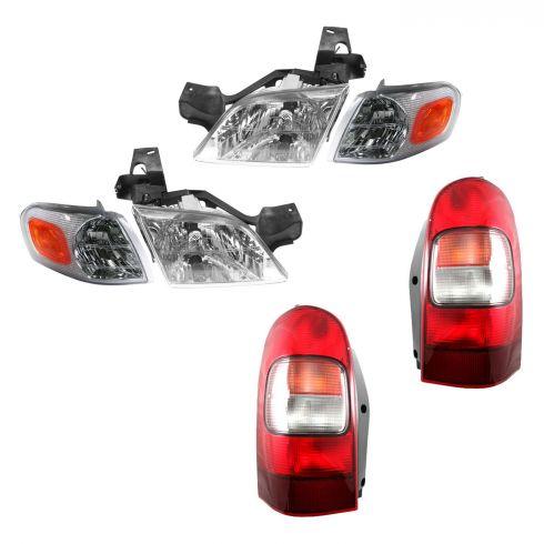 97 05 Gm Venture Silloutte Montana Trans Headight Park Light Taillight Kit