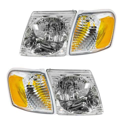 01-03 Ford Explorer Sport; 01-05 Explorer Sport Trac Headlight & Park Light Kit (Set of 4)