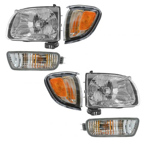 TYC For 01-04 Tacoma Chrome Park Corner Light Turn Signal Marker Lamp Driver L