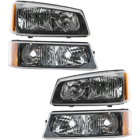 05-07 Chevy GMC Silverado Sierra Headlight & Parking Light Kit