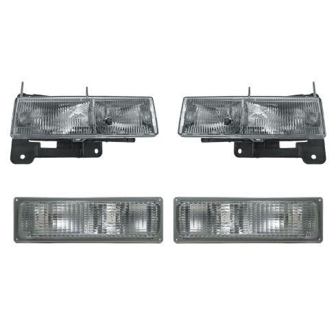 1990-93 Chevy Truck Headlight & Parking Light Set of 4