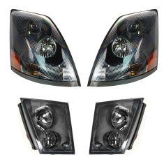 03-11 Volvo VN/VNL (EX VNL300/VNM200mdl) Headlight & Fog Light Kit