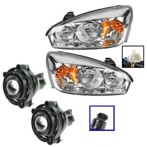 06 08 Malibu Clic Headlight Fog Light Kit Set Of 4