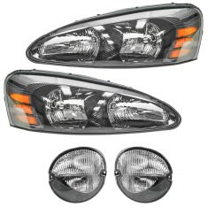 04-08 Pontiac Grand Prix (exc GXP) Headlight & Fog Light Kit (Set of 4)