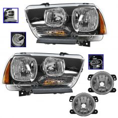 11-14 Dodge Charger (exc RT) Headlight & Fog Light Kit (Set of 4)