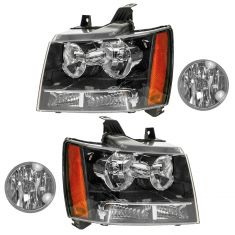 07-14 Chevy Suburban Avalanche Tahoe Front Lighting Kit (4 Piece)