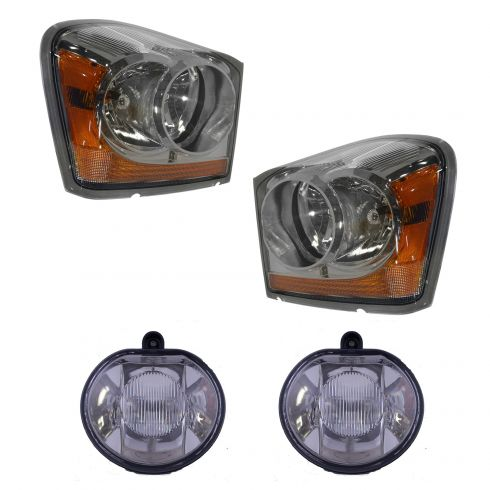 04 05 Dodge Durango Front Lighting Kit 4 Piece