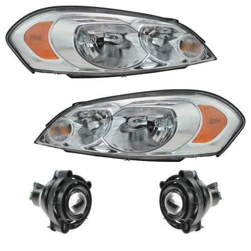 06 07 Chevy Monte Carlo 13 Impala Front Lighting Kit 4 Piece