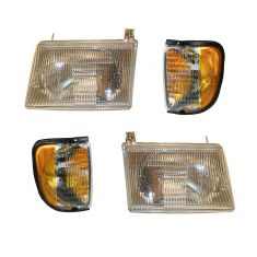 92-96 Ford Van Front Lighting Kit (4 Piece)