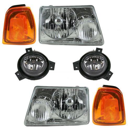 01-03 Ford Ranger Front Lighting Kit (6 Piece)