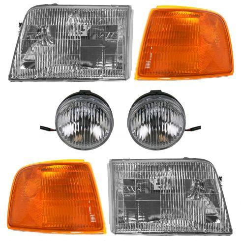 93-97 Ford Ranger Front Lighting Kit (6 Piece)