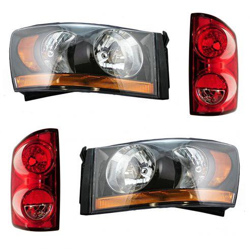 06-09 Dodge Ram Truck Front & Rear Lighting Kit (4 piece)