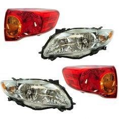 09-10 Toyota Corolla Front & Rear Lighting Kit (4 piece)