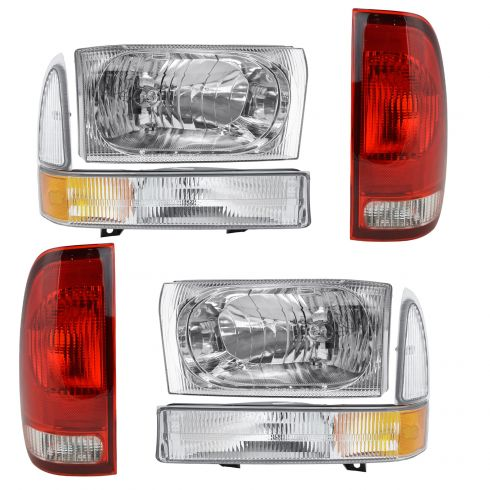 02-04 Ford Super Duty Front & Rear Lighting Kit (6 Piece)