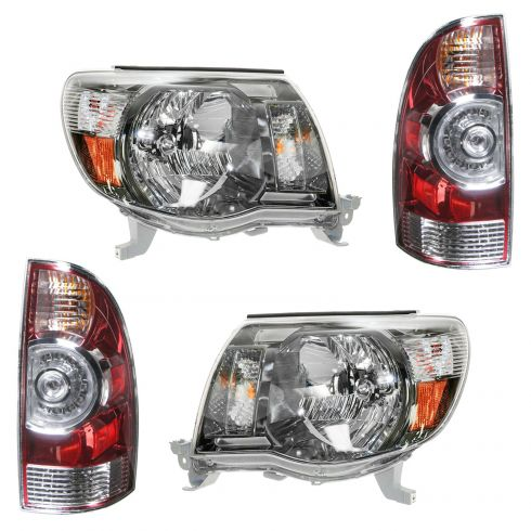 08-11 Toyota Tacoma (w/ Sport Package) Front & Rear Lighting Kit (4 piece)