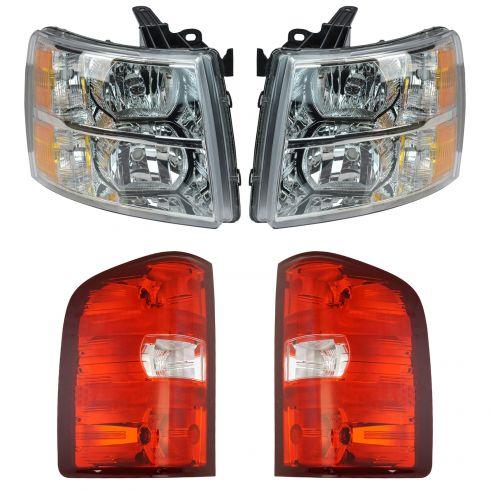 07-14 Chevy Silverado Pickup Front & Rear Lighting Kit (4 Piece)