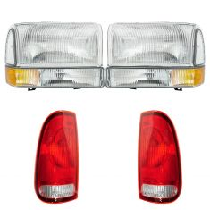 99-04 Ford Super Duty Front & Rear Lighting Kit (6 Piece)