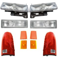 90-93 Chevy Truck SUV Front & Rear Lighting Lighting Kit (10 Piece)