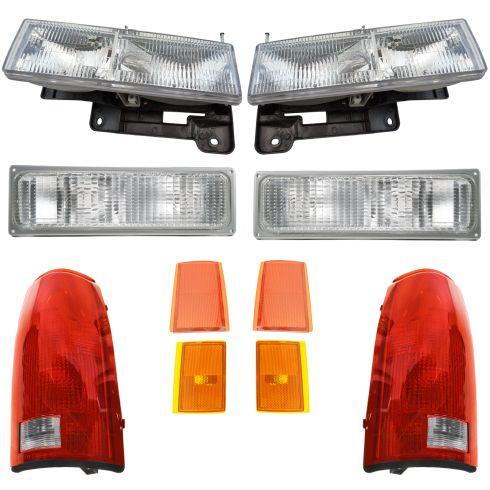 90-93 Chevy Truck SUV Front & Rear Lighting Lighting Kit (10 Piece)