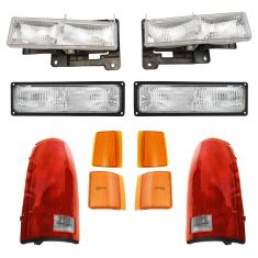 94-02 GMC Truck SUV Front & Rear Lighting Kit (10 Piece)