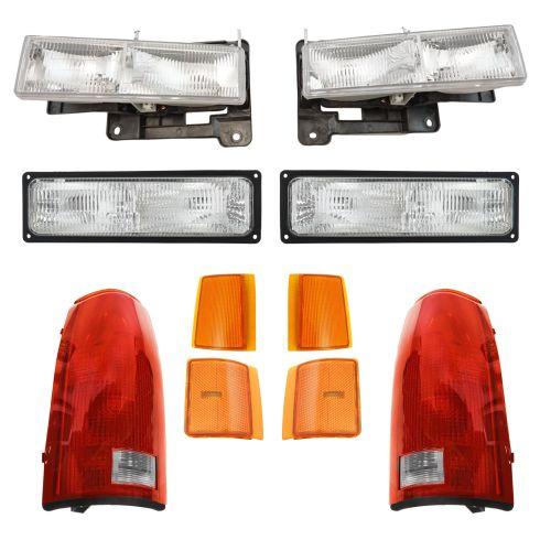 94-02 GMC Truck SUV Front & Rear Lighting Kit (10 Piece)