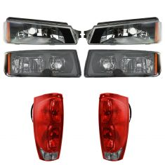 03-06 Chevy Avalanche w/ Lower Body Cladding Front & rear Lighting Kit (6 Piece)